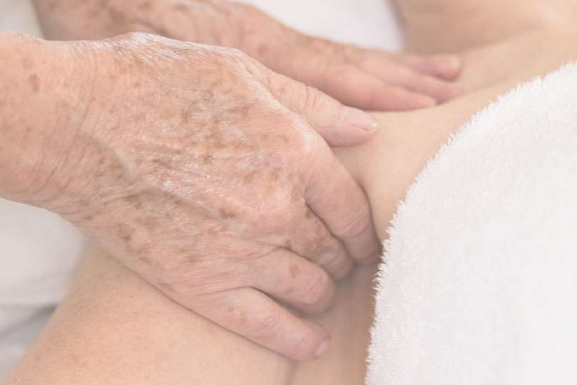 lymphatic drainage massage underneath armpit adelaide