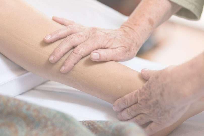 paediatric massage on children's legs