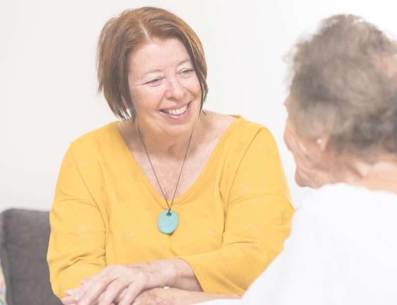 judy consulting with aged care patient